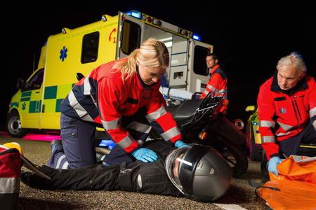 Wypadek motocyklowy w UK