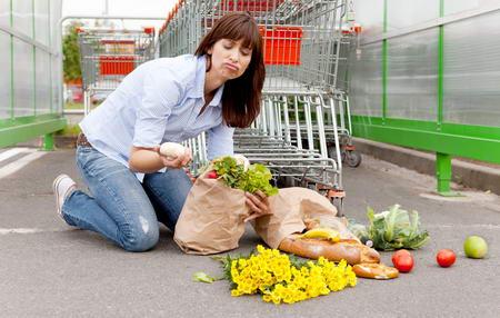 Wypadek w supermarkecie